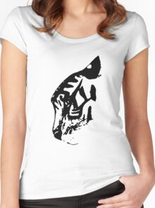 Inkblot Tiger Women's Fitted Scoop T-Shirt