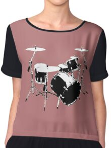 Drumkit (front view) Chiffon Top