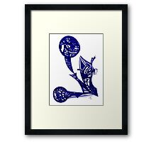 City Shadow - ballpoint pen on paper  Framed Print