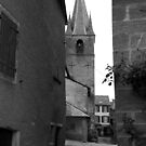 church at the end of the alley by stickelsimages