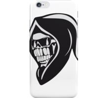 Death hooded sweatshirt angry sunglasses iPhone Case/Skin