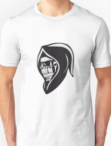 Death hooded sweatshirt angry sunglasses Unisex T-Shirt