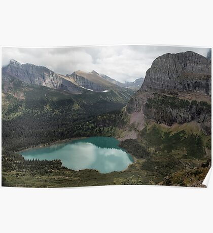 Grinnell Lake From The Trail No. 2 - Glacier Np Poster