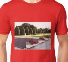 Roses, Begonias and Penstemon - Preston Temple Forecourt Unisex T-Shirt