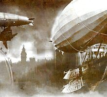 Steampunk London Skyline by BryaSaurusREX