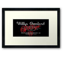 Willys Overland Corporation  Framed Print