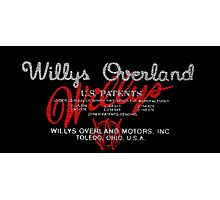 Willys Overland Corporation  Photographic Print