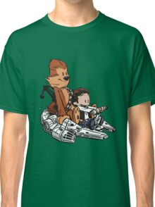 Chewie And Han Calvin And Bobbes Classic T-Shirt