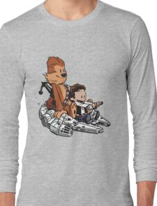 Chewie And Han Calvin And Bobbes Long Sleeve T-Shirt