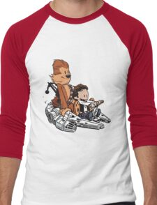 Chewie And Han Calvin And Bobbes Men's Baseball ¾ T-Shirt
