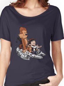Chewie And Han Calvin And Bobbes Women's Relaxed Fit T-Shirt