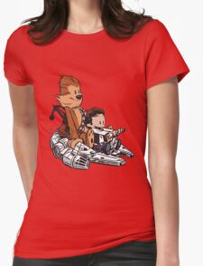 Chewie And Han Calvin And Bobbes Womens Fitted T-Shirt