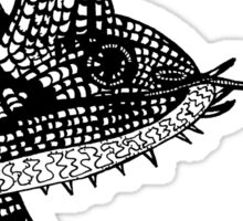 Chameleon Lizard T-Shirt Illustration / design / drawing. Sticker