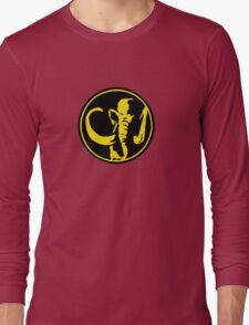 Mighty Morphin Power Rangers Black Ranger Symbol Long Sleeve T-Shirt