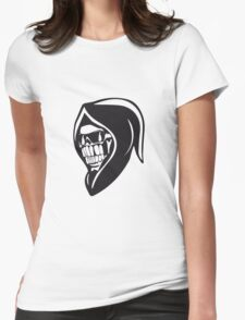 Death hooded sweatshirt angry sunglasses Womens Fitted T-Shirt