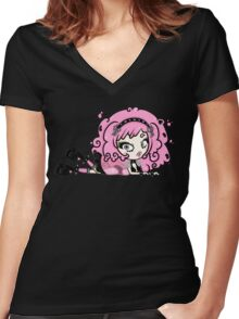 Cotton Candy Girl 2 by Lolita Tequila Women's Fitted V-Neck T-Shirt