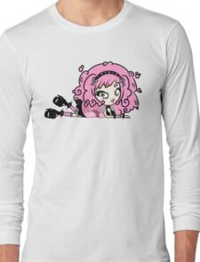 Cotton Candy Girl 2 by Lolita Tequila Long Sleeve T-Shirt