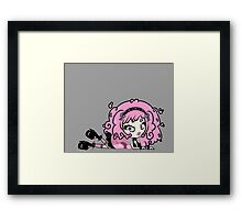 Cotton Candy Girl 2 by Lolita Tequila Framed Print