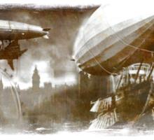 Steampunk London Skyline Sticker