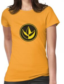 Mighty Morphin Power Rangers Green Ranger Symbol Womens Fitted T-Shirt