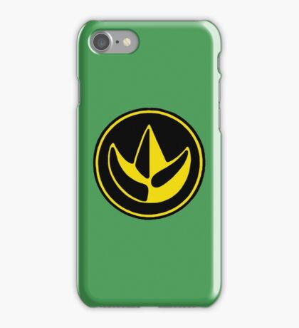 Mighty Morphin Power Rangers Green Ranger Symbol iPhone Case/Skin