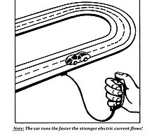 Slot Car (50s teaching drawing!) by burtward