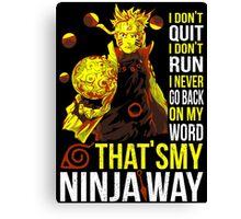Naruto Ninja Way Shirt - RB00266 Canvas Print