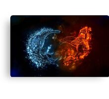 Blue Red Birds Canvas Print