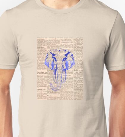 Blue elephant news Unisex T-Shirt