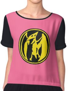 Mighty Morphin Power Rangers Pink Ranger Symbol Chiffon Top