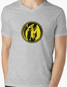 Mighty Morphin Power Rangers Pink Ranger Symbol Mens V-Neck T-Shirt