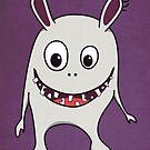 Funny Cracked Teeth Happy Monster by Boriana Giormova