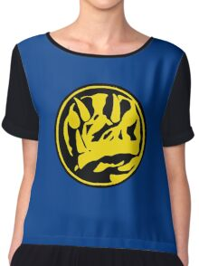 Mighty Morphin Power Rangers Blue Ranger Symbol Chiffon Top