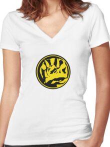 Mighty Morphin Power Rangers Blue Ranger Symbol Women's Fitted V-Neck T-Shirt
