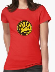 Mighty Morphin Power Rangers Blue Ranger Symbol Womens Fitted T-Shirt