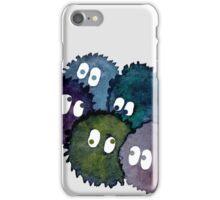 Watercolor Soot Sprites iPhone Case/Skin