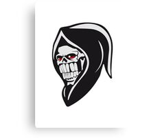 Death hooded sweatshirt evil Canvas Print