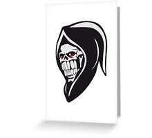 Death hooded sweatshirt evil Greeting Card