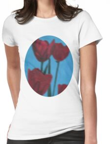 tulips in the fog Womens Fitted T-Shirt