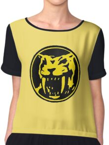 Mighty Morphin Power Rangers Yellow Ranger Symbol Chiffon Top