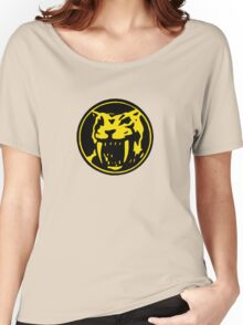 Mighty Morphin Power Rangers Yellow Ranger Symbol Women's Relaxed Fit T-Shirt