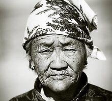 Old woman, Mongolia by jennyjones