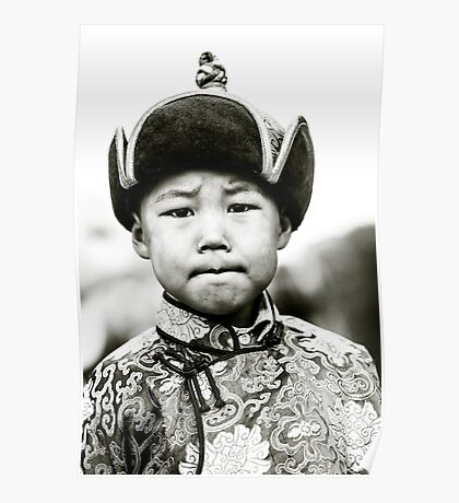 Young boy during Nadaam festival, Ulaanbaatar, Mongolia Poster