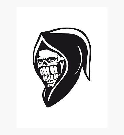 Death hooded sweatshirt evil Photographic Print