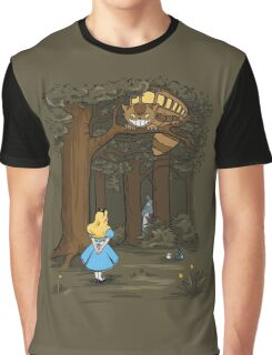 My Neighbor in Wonderland (Army) Graphic T-Shirt