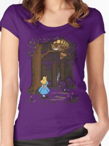 My Neighbor in Wonderland (Army) Women's Fitted Scoop T-Shirt
