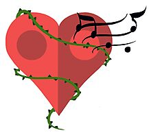 Cutie Mark - Musical Heart Photographic Print