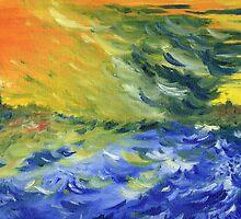 Blue Waves by Teresa White