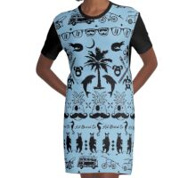 Art Board Co T-shirt Dress Black Ink Graphic T-Shirt Dress