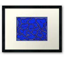 Huddlers Bright Blue Framed Print